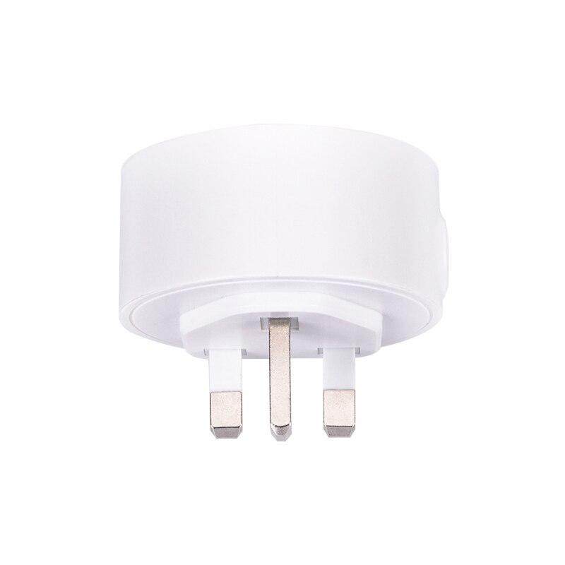 Купить с кэшбэком Tuya ZigBee Smart Home Monitoring Kit with PIR Motion Detector Door Sensor 10A UK Type Power Energy Plug