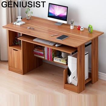 Escritorio De Oficina portátil Para ordenador portátil, Mesa De Escritorio con librería
