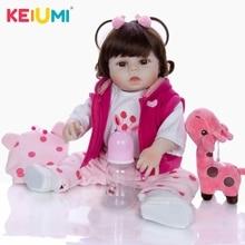 19 inch SIlicone Full Body Reborn Babies Doll Bath Toy Lifelike Newborn Princess Baby Boneca Bebes Menina Kid