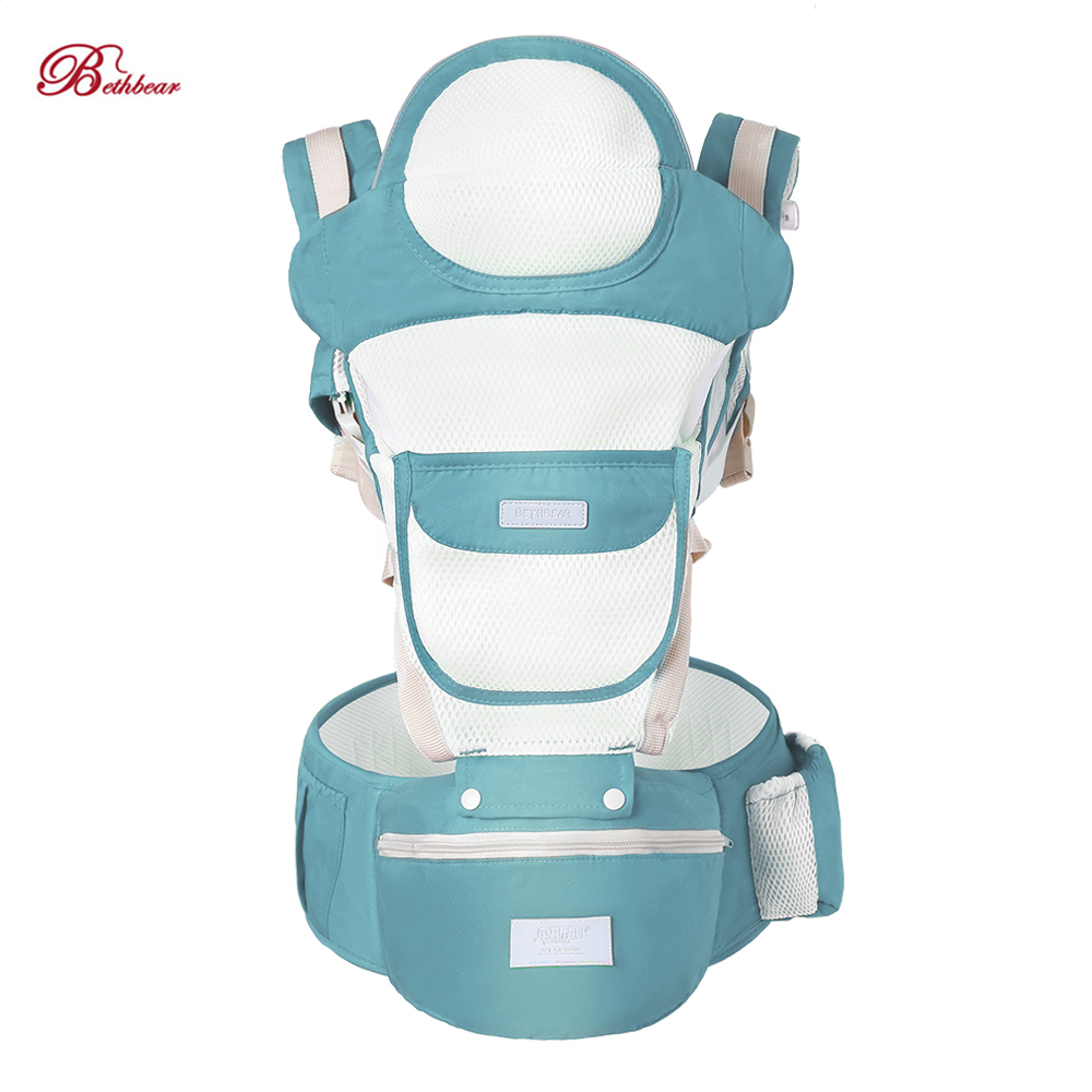Bethbear Breathable Baby Carrier Mesh And Cotton Material Ergonomic Baby Carrier Kangaroo Baby Sling Infant Kid Hipseat Carrier