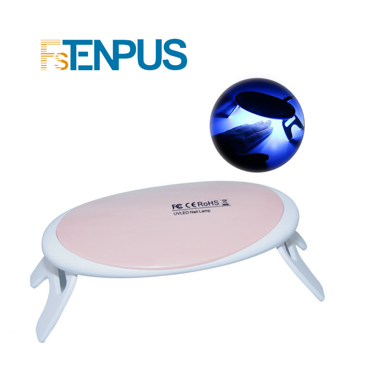 FSTENPUS 8W UV LED Lamp For Nails Dryer  Foldable  Portable Nail Lamp Timer Home Use Convenient DIY Nail Art Tools
