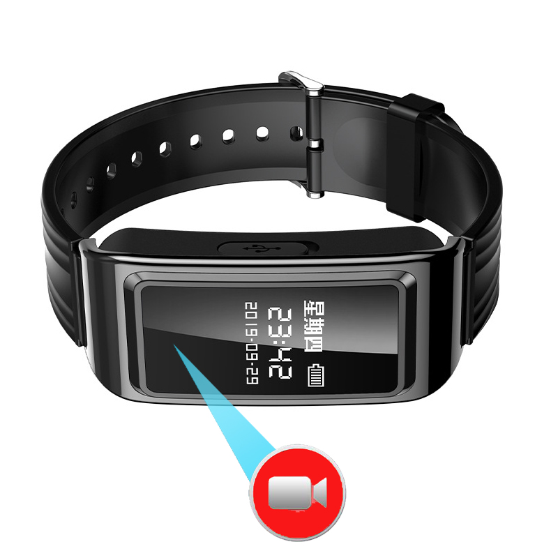 1080P Professional Video Recoding Smartband Voice Recorder HD Screen Smart Band 128GB image