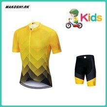 MAKOSHARK ChildrenS Cycling Jersey Wear Short Sleeves Summer Uniform Road Bike Racing Ropa Maillot Team Set