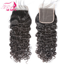 AFaiys Water Wave 4x4 Lace Closure Human Hair Closure Free/Middle Part Remy Hair Closure cheveux humain 1PC Natural Color