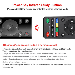 Image 3 - VONTAR H17 G20 Voice Remote Control 2.4G Wireless Air Mouse with IR Learning Microphone Gyroscope for Android TV Box Mini PC