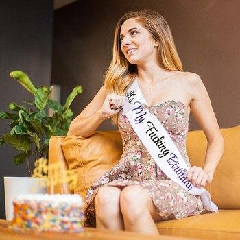 Для мужчин и женщин с днем рождения ленты для девочки 20 21 22 30 40 50 смешной Взрослый день рождения украшения аксессуары Поставка подарок