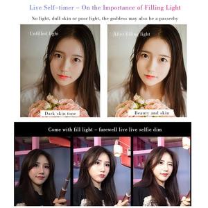 Image 3 - CYKE A18 A17 selfie stick Bluetooth selfie stick 110 160cm telescopic rod Fill light self timer Tripod selfie stick Bluetooth