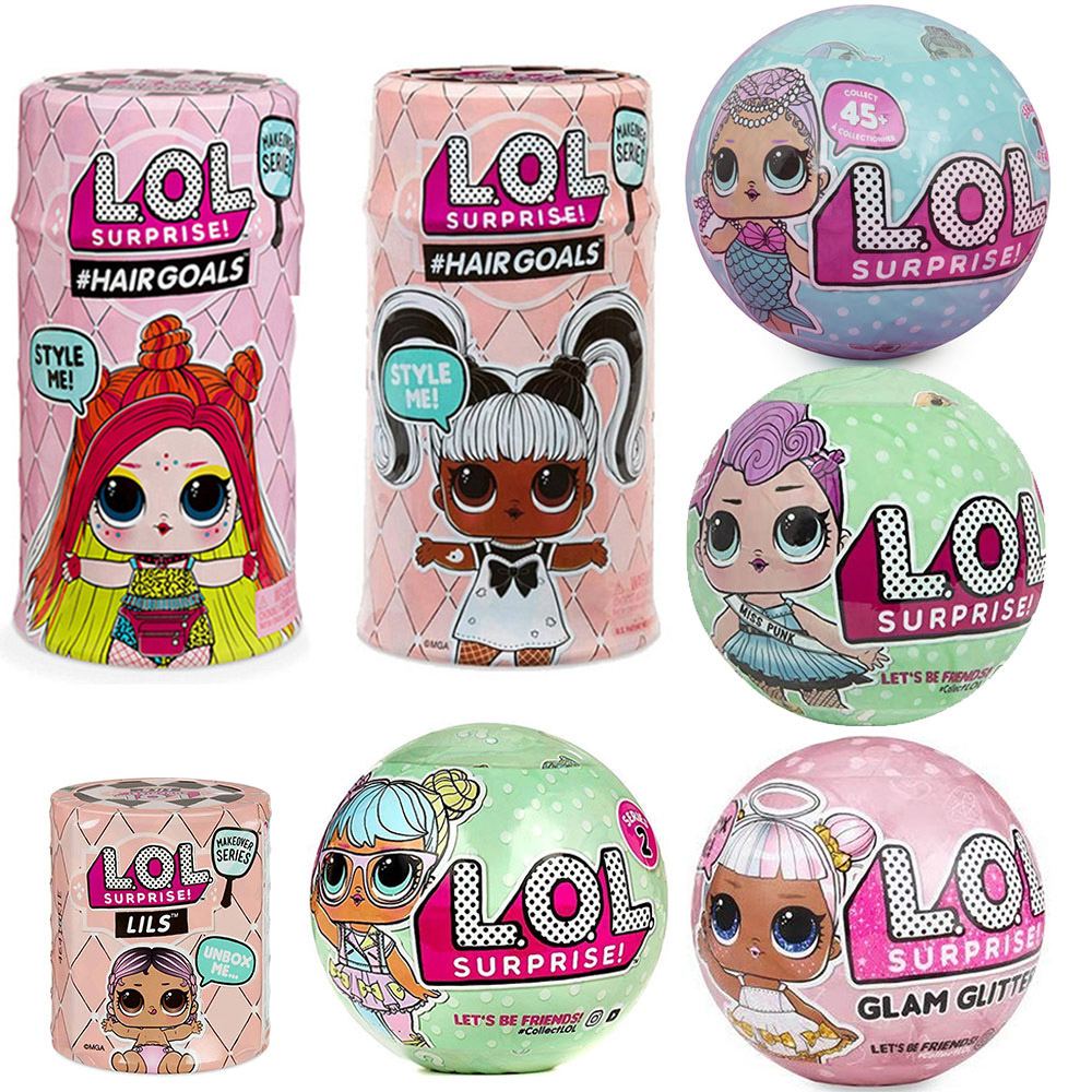 Original LOL SURPIRSE Dolls 5th Generation HAIR GOALS Magic DIY Random Lols Dolls Action Figure Model Girl's Toy Gift