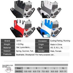Image 5 - GIYO אופניים כפפות חצי אצבע כפפות חיצוני גברים נשים נוסף ג ל כרית לנשימה MTB מרוצי כביש רכיבה רכיבה על אופניים כפפות DH