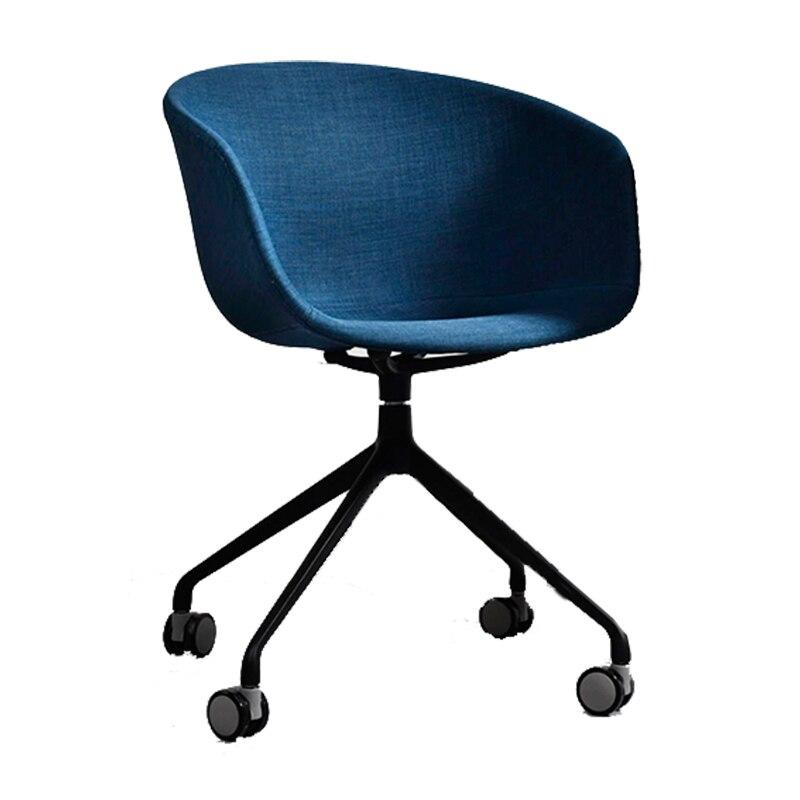 Nordic Study Computer Chair Home Modern Minimalist Leisure Negotiation Desk Swivel Chair Studio Office Chair