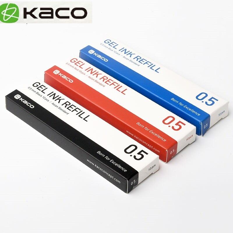 Чернила Синие/черные/красные/красочные для ручки Xiaomi KACO 0,5 мм, ручка для подписи для школы и офиса, плавное письмо, прочный сменный стержень д...