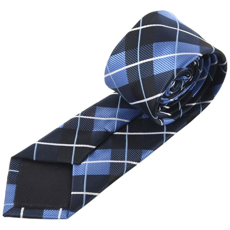 Man Tie Random Accessories Classical Worked Knit Tie (Navy Blue)