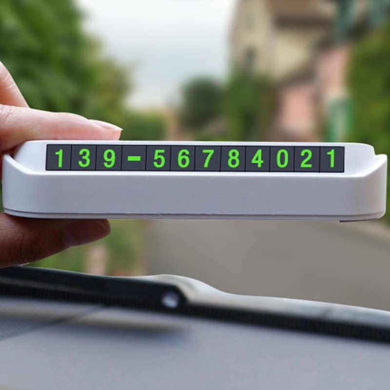 Универсальная автомобильная светящаяся Временная парковочная карта, ночная карта с номером телефона, универсальная Скрытая автомобильная карта с временным стоп-сигналом для салона