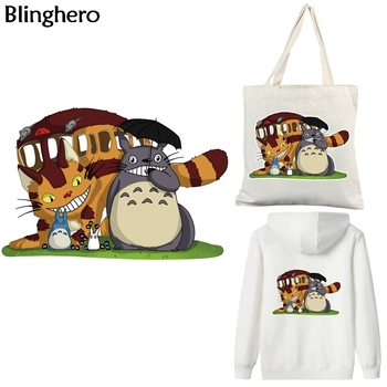 Blinghero Anime Cats Heat Transfer Patches Stickers Thermal Patches Cartoon Iron-on Applique Diy Patch For Men Women BH0369 iron on cartoon anime patches for kids animal patch for clothing bag cute bat hero bear stickers diy heat transfers appliques h