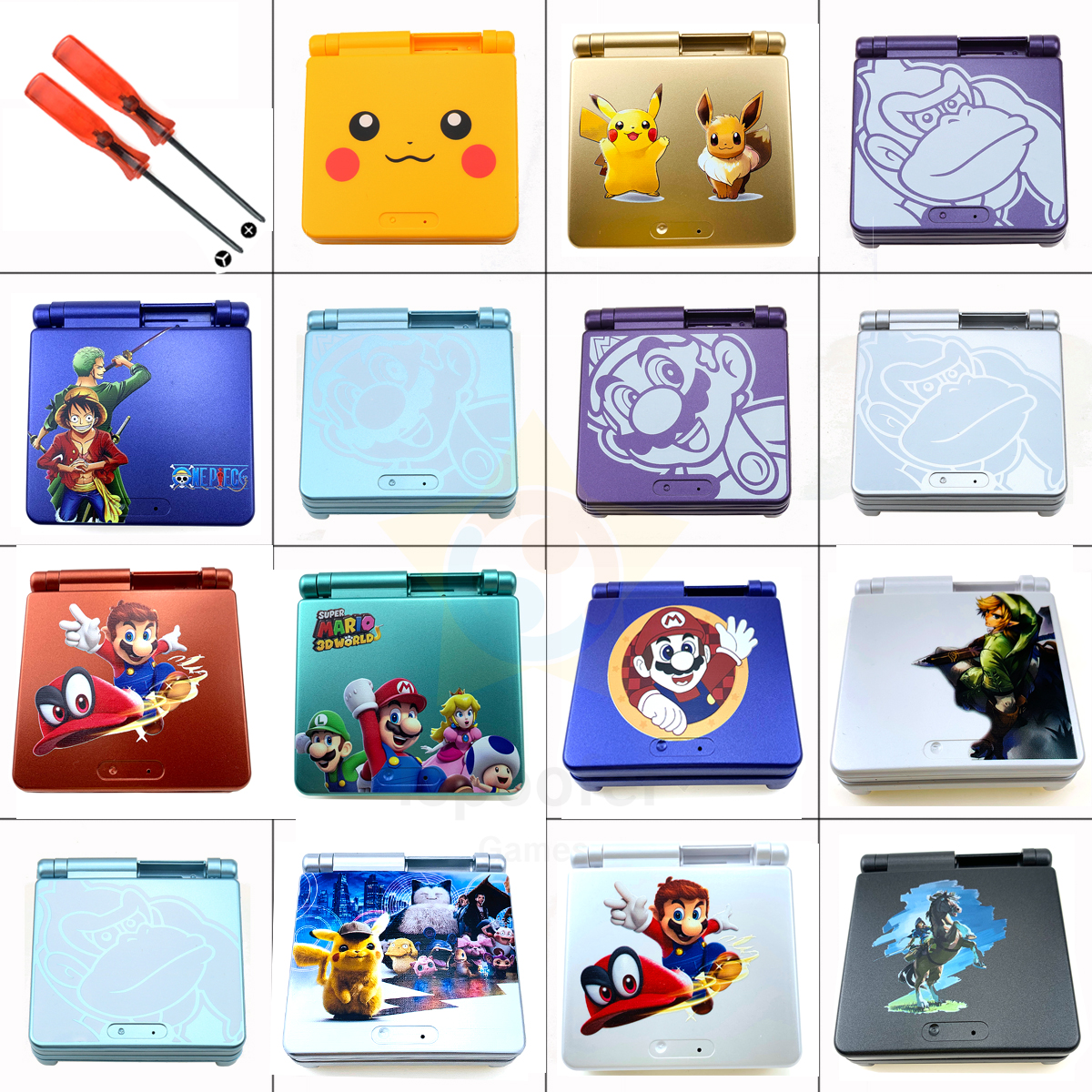 2020 Colors Available 1set Full Housing Shell Case Cover Replacement For GBA SP Gameboy Advance SP Accessorries   Tools