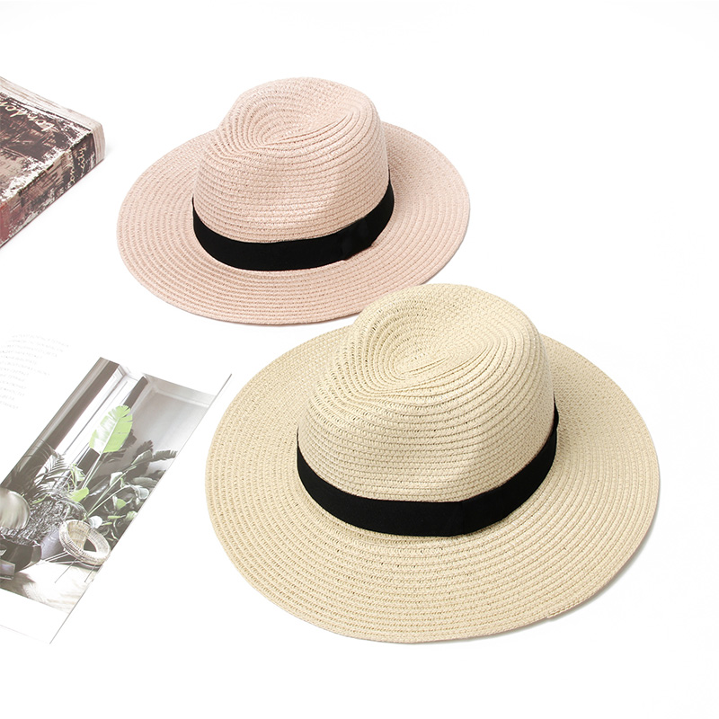 Summer Hat Women Beach Straw Hat Ladies 2020 Fashion Casual  Panama Beach Hat Breathable Adjust Rope Sun Hats For Women