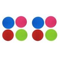 새로운 8Pcs 다양 한 색상 넓은 입 메이슨 항아리 인감 뚜껑 스토리지 캡 발효 커버 실리콘 se와 Leakproof 교체 뚜껑