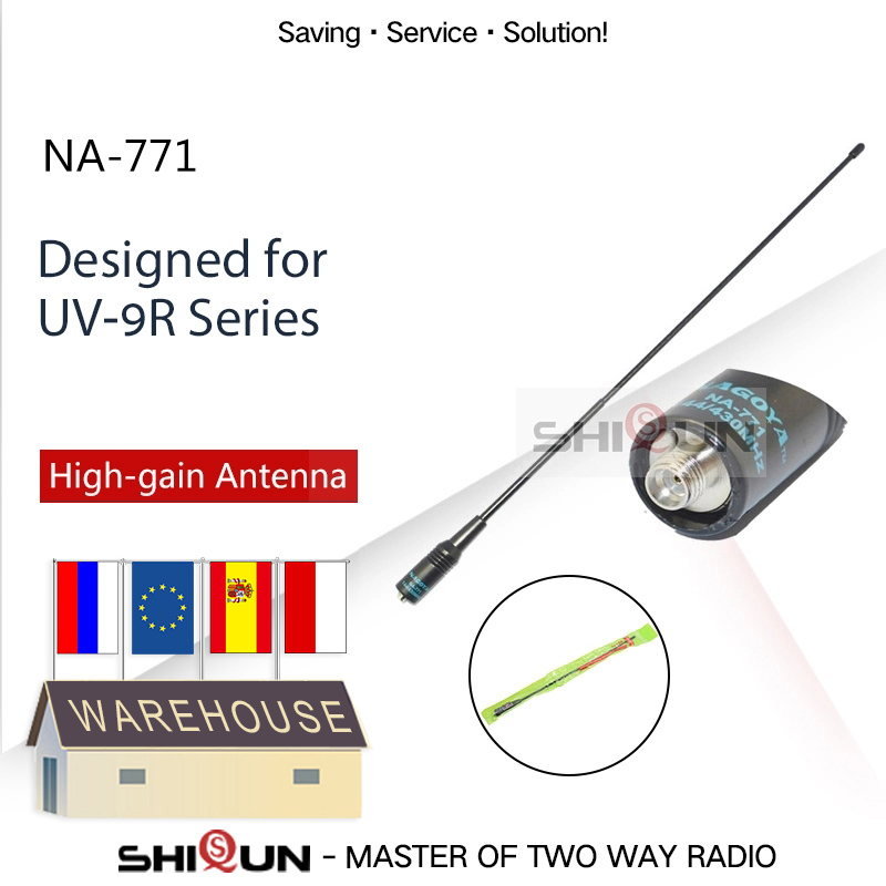 NEW Nagoya NA-771 Baofeng Antenna High Gain Nagoya 771 Dual Band VHF/UHF Walkie Talkie Antenna For Baofeng UV-9R Vhf Uhf Antenna