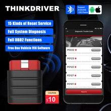 ThinkCar Thinkdriver OBD רכב אבחון סורק Bluetooth OBD2 קוד קורא אנדרואיד מקצועי Escaner 10kit מפעל PK Thinkdiag