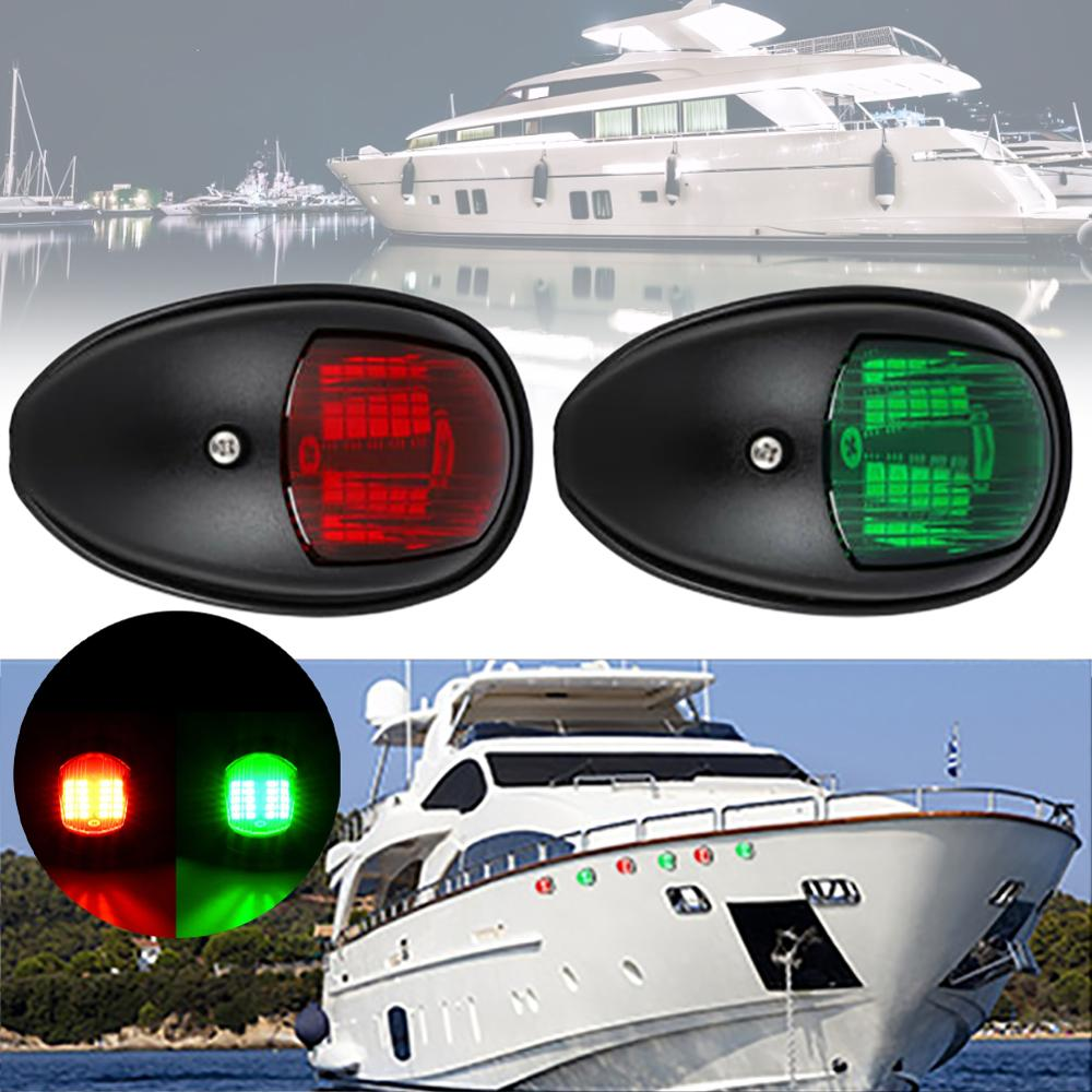 2Pcs 12V Universal ABS LED Navigation Light Lamp Signal Lamp For Marine Boat Yacht Truck Trailer Van