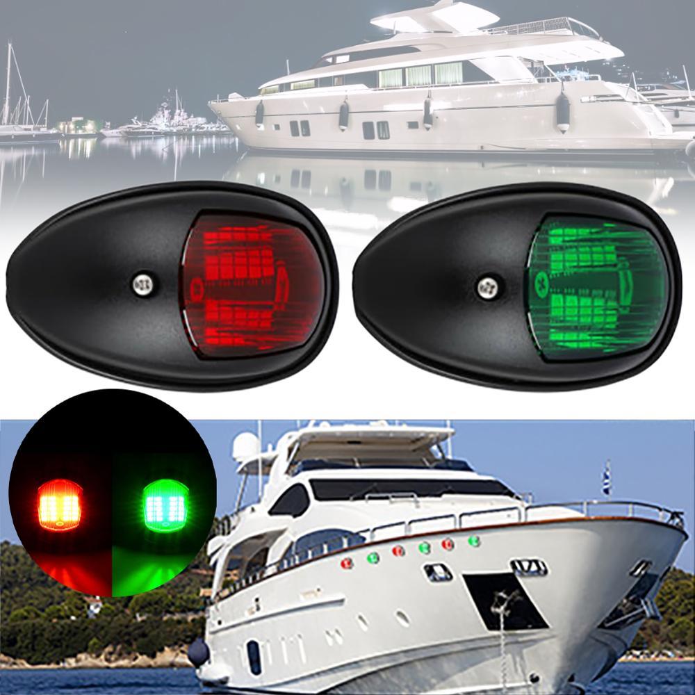 2Pcs 12V Universal ABS LED Navigation Light Lamp Signal Lamp For Marine Boat Yacht Truck Trailer Van