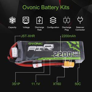 Image 4 - Batterie GENS ACE OVONIC, Lipo 3S 2200mAh 11.1V, 1 pièce, 50C avec connecteur XT60 Deans, pour voiture RC Drone, hélicoptère, bateau