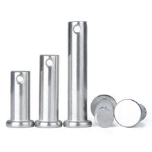 M3 M4 M5 M6 M8 Pin Roll 304 stainless steel pin flat head cylindrical pin with hole locating pins GB882 axis pin