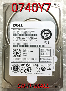 """Pulled 0740Y7 740Y7 MBF2300RC 300GB 10025 RPM 16MB Cache SAS 6Gb/s 2.5"""" Enterprise Class Hard Disk Drive"""