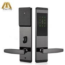 Electric Door Lock Digital Touch Screen Keypad Code Home Security Door Lock With MF Card Smart Door Access Control XM-2022