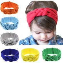 Fashion girls cotton colors Chinese knot headbands dough-twist fabrics headwear for children 12 colors 12pcs/lot colors for fashion