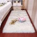 Sholisa Shag искусственный мех Пушистый Ковер прямоугольной формы 6 см ворс Пушистый Ковер для гостиной спальни море набор дома деко
