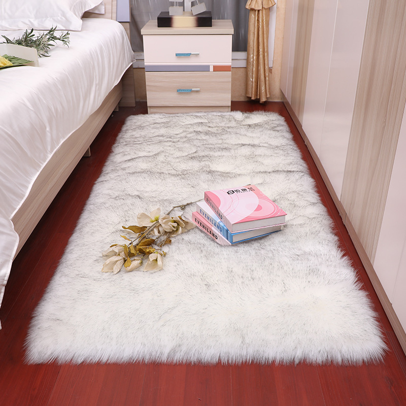 Sholisa Shag Faux Fur Area Rug Fluffy Carpet Rectangle Shape 6cm Pile Fluffy Carpet For  Living Room Bedroom Sea Set Home Deco