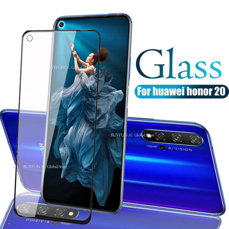 Protective Glass On Honor 20 Tempered Glass For Huawei Honor 20 Huaweii honor20 YAL L21 L41 Glas Screen Protector Film Cover 9H-in Phone Screen Protectors from Cellphones & Telecommunications