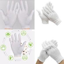 6Pairs White Inspection Cotton Work Gloves Coin Jewelry Lightweight White Cotton Gloves S M L XL