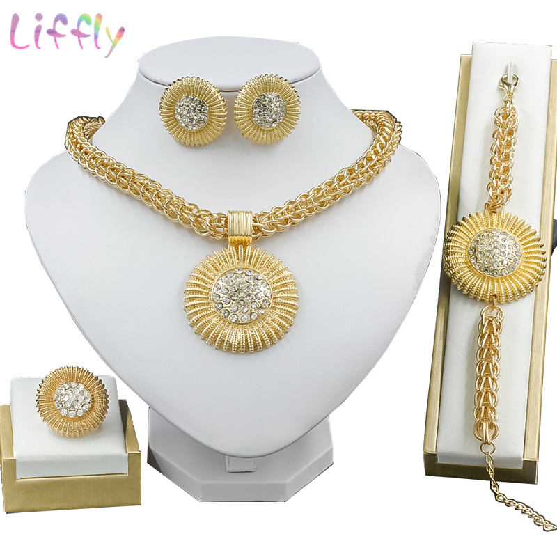 Liffly Nigeria Jewelry Sets Thick Chain