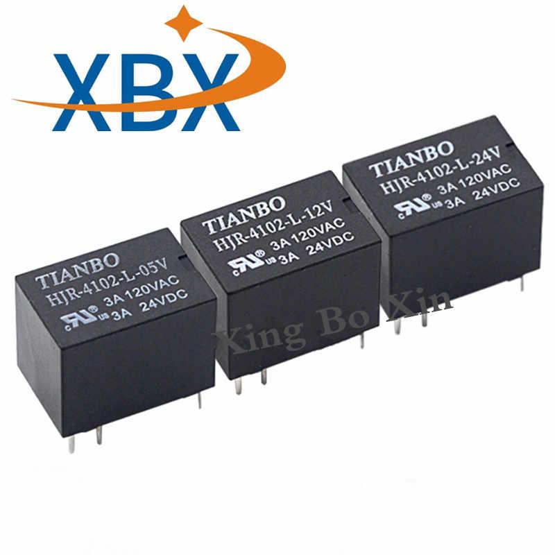 TIANBO 100% neue original power Relais HJR-4102-L-05V HJR-4102-L-12V HJR-4102-L-24V 3A 120VAC 6pin DC5V 12V 24V