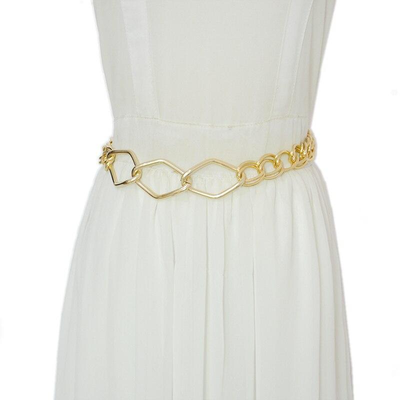 Luxury Designer 2020 New Fashion Full Gold Chain Fashion Metal Waist Chain Elegant Temperament Body Chain Bg-1611