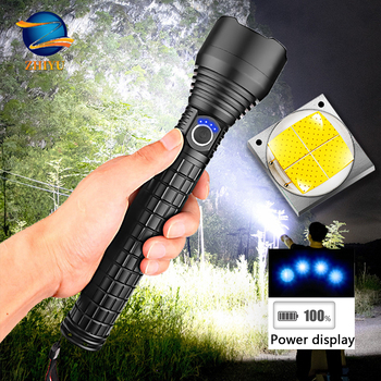 ZHIYU Super Powerful Xlamp XHP50 LED Flashlight LED Torch USB Charge Lamp Zoom Tactical Torch with 26650 Rechargeable Battery super bright led flashlight xhp50 2 powerful linterna usb zoom led torch xhp50 18650 rechargeable battery