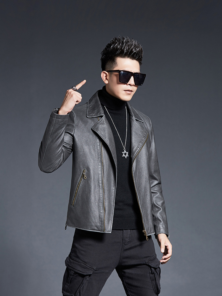 Genuine Leather Jacket Men Cowhide Short 100% Real Cow Leather Coat Spring Autumn Vintage Motorcycle Jacket 2020 KD2229