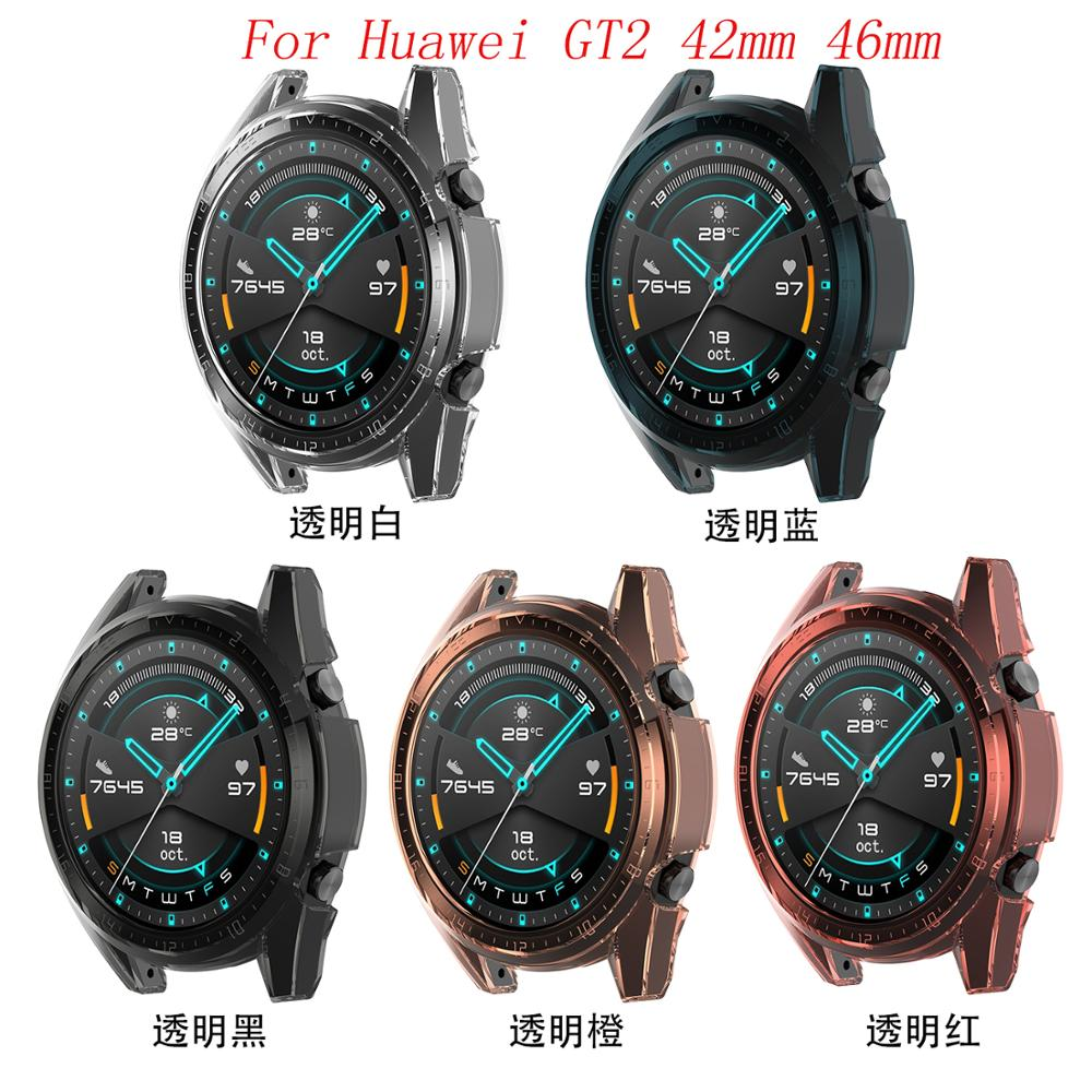 Tpu Protective Case Cover Shell For Huawei GT2 42mm 46mm Smart Watch Accessories GT 2 Shell Protector