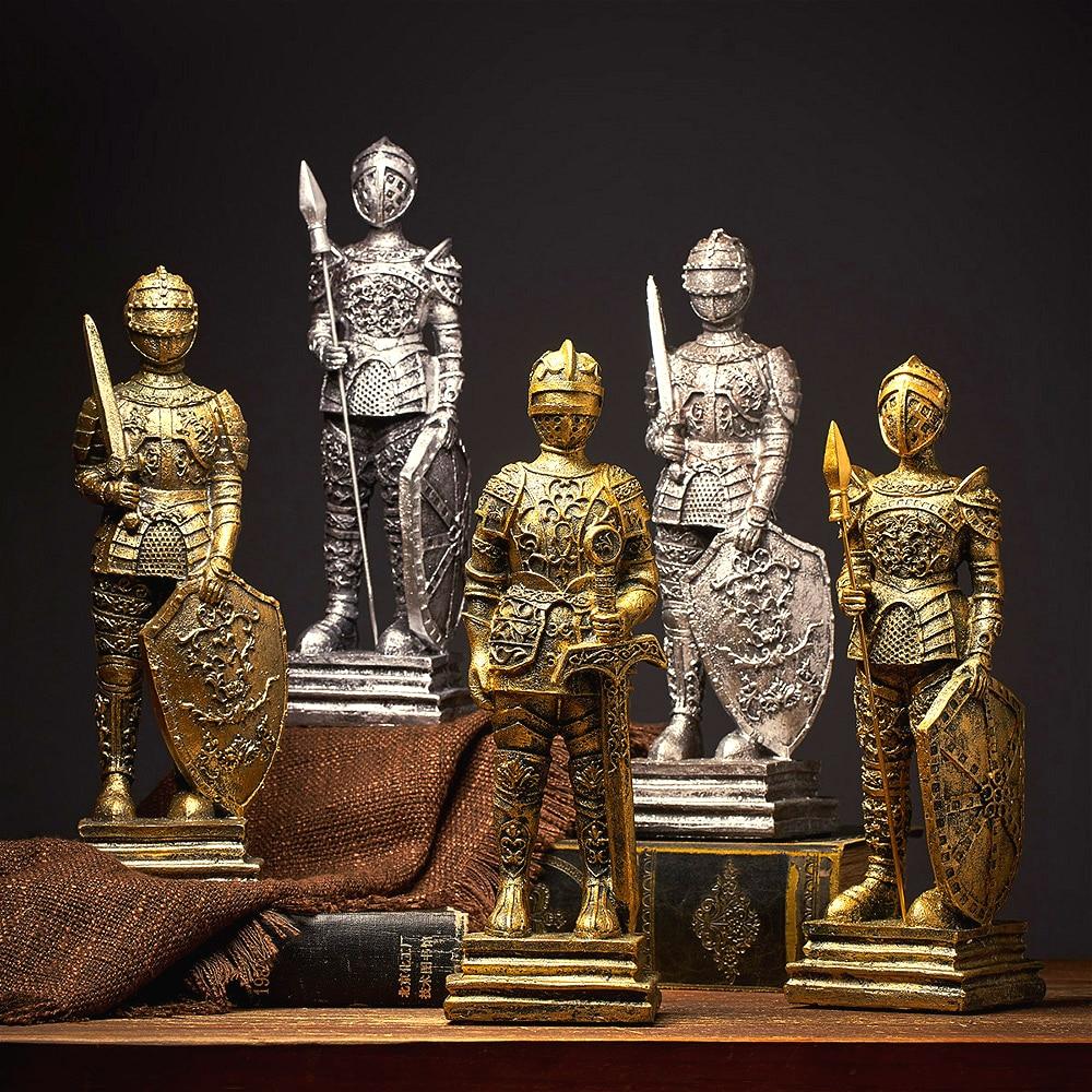 Retro Nostalgic Roman Soldier Ornaments Home Decoration Accessories Vintage Miniature Europe Style Figurines Home Decor Gifts