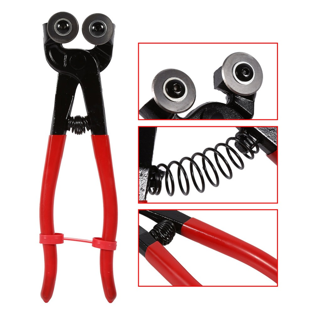 Heavy Duty 8inch Stained Glass Cutter Nipper Tile Wheeled Plier Tool Carbide Steel Plastic Construction Tools