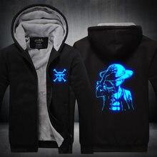 Sudadera deportiva con capucha de una pieza para hombre y mujer, chándal con capucha, chaqueta, disfraz de Cosplay, Luffy, Edward, luminoso