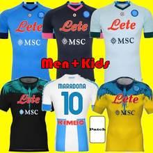 20 21 napoli soccer jérsei naples 2021 2022 koulibaly maradona camisa de futebol de fútbol insigne milik maillots h. lozano mertens footba