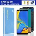 ЖК-дисплей 6,0 дюйма A750F для Samsung Galaxy A7 2018 A750 SM-A750F A750F, дисплей с сенсорным экраном в сборе, Запасная часть