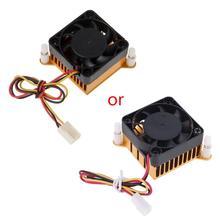 PC Northbridge чипсет алюминиевый радиатор 40 мм вентилятор для 3d принтера охлаждения