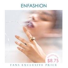 Женское кольцо с сердцем enfashion простое из нержавеющей стали