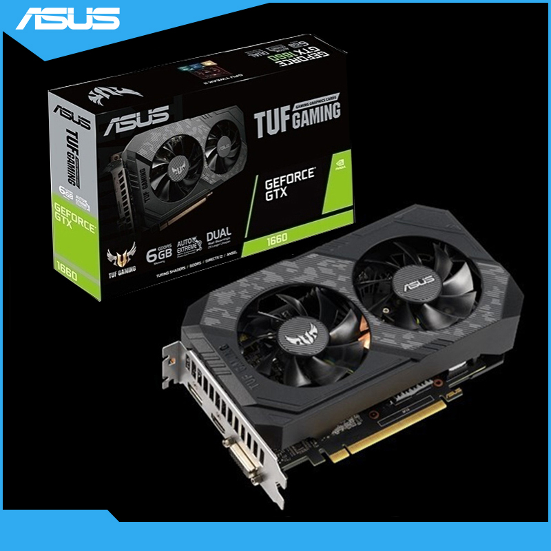 Asus Graphics card TUF-GTX 1660-O6G-GAMING Graphics card GeForce GTX 1660 6GB Desktop computer gaming video card image