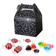 12 Pcs Paper Bag Gift Handbags Favor Candy Boxes Halloween Theme Wavy Handcuffs Box