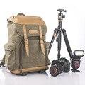 Roadfisher винтажный Повседневный водонепроницаемый холст DSLR SLR камера дорожный рюкзак сумка для фотокамеры вставка подходит Canon Nikon sony